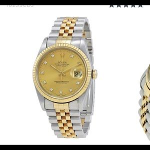 gold and silver unisex Rolex NWOT 36 mm two tone
